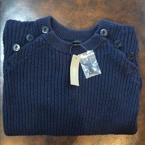 J. Crew Navy Button Sweater, Brand New